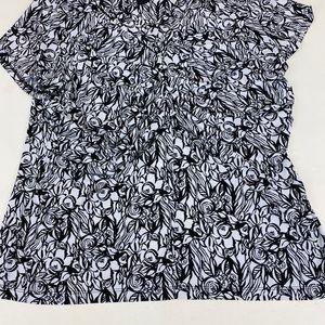 Alfani-Short Sleeves-Black/White Prints--XL-VShape